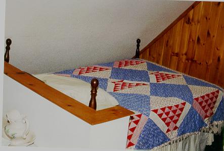 View of King Size Bed in Loft